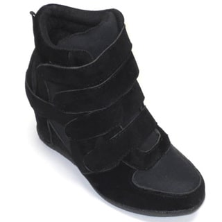 Blue Children's 'K-Kris' Black Wedge Shoes