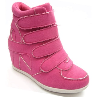 Blue Children's 'K-Kris' Fuchsia Wedge Shoes