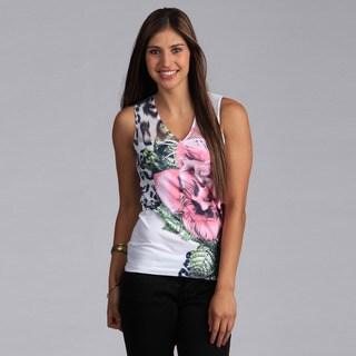 Tabeez Women's Flower Print Seamless Tank