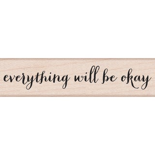 """Hero Arts Mounted Rubber Stamps 3""""X1.5""""-Will Be Okay"""