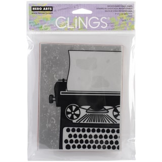 Hero Arts Cling Stamps-Big Typewriter