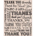 "Hero Arts Mounted Rubber Stamps 4.5""X3.75""-So Many Thanks"