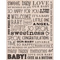 "Hero Arts Mounted Rubber Stamps 4.5""X3.75""-Our Baby"