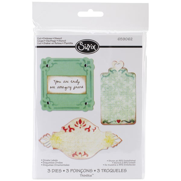 Sizzix Thinlits Dies 3/Pkg-Ornate Labels