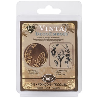 "Sizzix DecoEmboss Embossing Folder 2.725""X2.375"" by Vintaj-Lily Of The Valley"