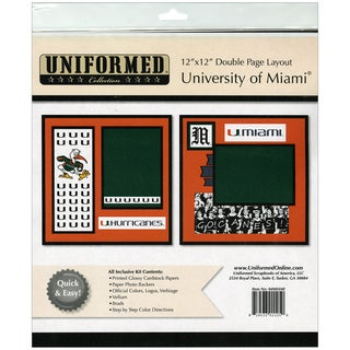 "Collegiate 12""X12"" 2 Page Spreads-University Of Miami"