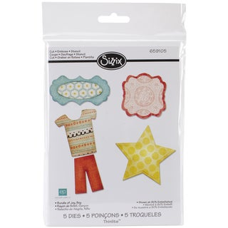 Sizzix Thinlits Dies 5/Pkg-Bundly Of Joy Boy
