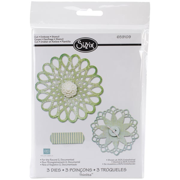Sizzix Thinlits Dies 3/Pkg-For The Record 2, Documented