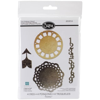 Sizzix Thinlits Dies 4/Pkg-Note To Self