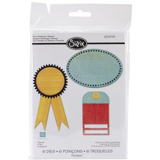 Sizzix Thinlits Dies 6/Pkg-Scoot