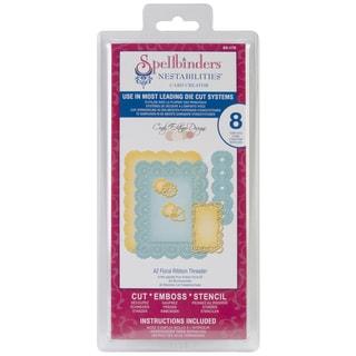 Spellbinders Nestabilities A2 Card Creator Dies-Floral Ribbon Threader