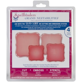 Spellbinders Grand Calibur Nestabilities Dies-Decorative Labels 1