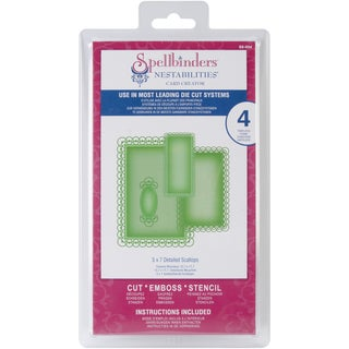 "Spellbinders Nestabilities Card Creator 5""X7"" Detailed Scallop Dies (Set of Four)"
