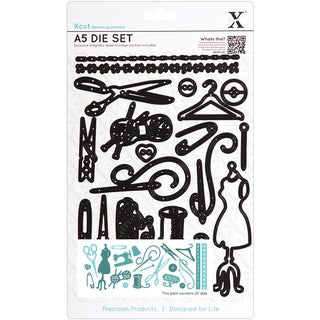 Xcut A5 Die Set 20 Pieces-Haberdashery