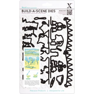 Xcut Build-A-Scene Dies 9 Pieces-Garden Party