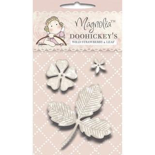 Magnolia Sweet Rainbow DooHickeys Dies-Wild Strawberry Flowers & Leaf