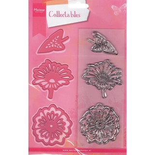 Marianne Designs Collectables Dies With Stamps-Two Flowers Up To 2.25&quot;X2.75&quot;