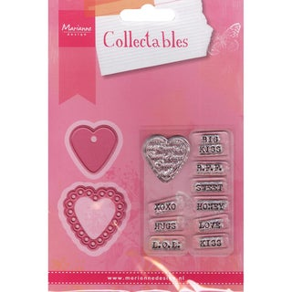 Marianne Designs Collectables Dies With Stamps-Candy Hearts