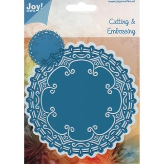 Joy! Craft Cut &amp; Emboss Dies-Round Doily 4, 4.75&quot;