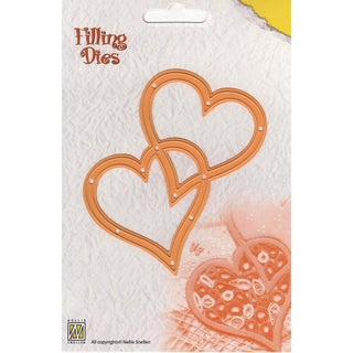 """Nellie's Choice Filling Dies-2 Hearts 3.5""""X4"""""""