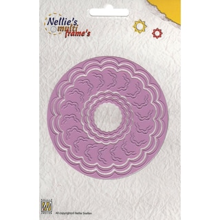 "Nellie's Choice Multi Frame Dies-Incire Round 5, 5 Pieces 3"" To 4.375"""
