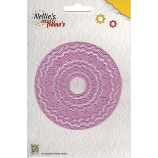 "Nellie's Choice Multi Frame Dies-Incire Round 6, 6 Pieces 3"" To 3.875"""