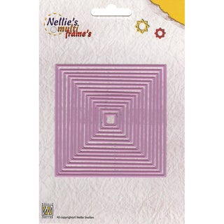 Nellie's Choice Multi Frame Dies-Straight Square 14 Pieces