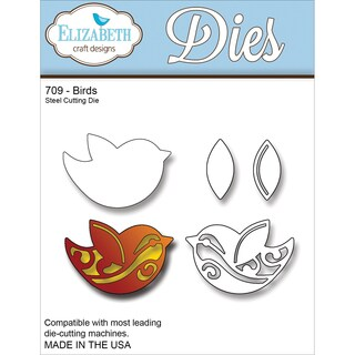 Elizabeth Craft Metal Die-Birds