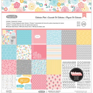 "My Girl Collection Pack 12""X12""-18 Double-Sided Papers + Alpha Thickers"