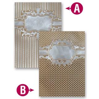 Spellbinders M-Bossabilities A4 Card Embossing Folder-Framed Petite Labels