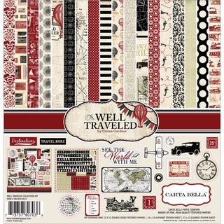 "Well Traveled Collection Kit 12""X12""-"