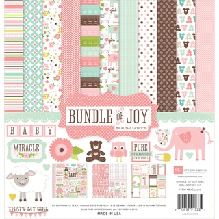 "Bundle Of Joy Girl Collection Kit 12""X12""-"