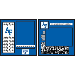 "Collegiate 8""X8"" 2 Page Spreads-Air Force"