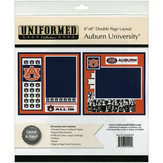 "Collegiate 8""X8"" 2 Page Spreads-Auburn University"