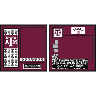 "Collegiate 8""X8"" 2 Page Spreads-Texas A&M"