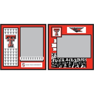 "Collegiate 8""X8"" 2 Page Spreads-Texas Tech University"