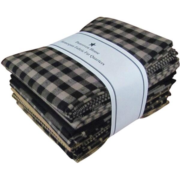 "Fat Quarter Bundles-Black Homespun 12 Pieces 18""X22""-Black"