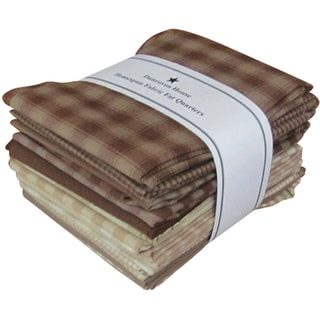 "Fat Quarter Bundles-Brown/Natural Homespun 12 pieces 18""X22""-Brown/Natural"