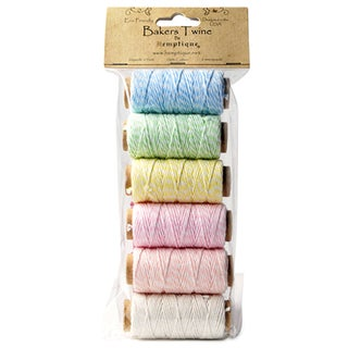 Baker's Twine 2 Ply Mini Spool Bag Set 6/Pkg-Creamy Pastel
