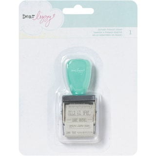 Dear Lizzy Lucky Charm Roller Stamp-12 Phrases
