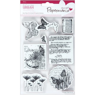 "Papermania Cling Urban Stamps 5""X7""-Botanical Print"