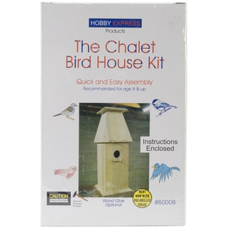 Chalet Wood Bird House Kit-Unfinished