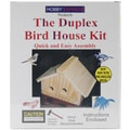 Duplex Wood Bird House Kit-Unfinished