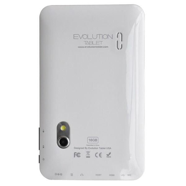"""Evolution Shockwave II 16 GB Tablet - 7"""" - 1.20 GHz - White"""