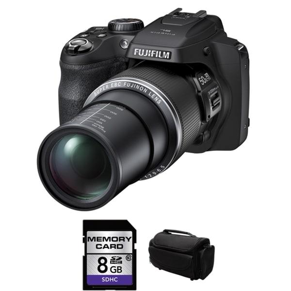 Fujifilm FinePix SL1000 16.2 MP Black Digital Camera 8GB Bundle