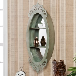 Alcott Oval Shadowbox Wall Mirror