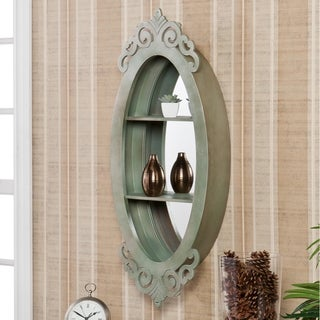 Upton Home Alcott Oval Shadowbox Wall Mirror
