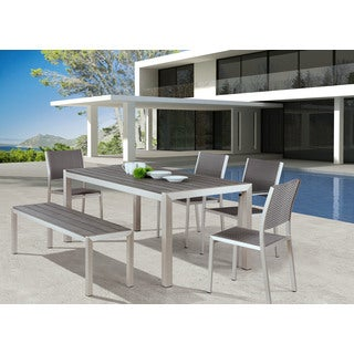 Zuo Modern Metropolitan Brushed Aluminum Dining Chair