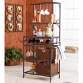 Berkshire Metal/ Rattan Wine Storage Rack