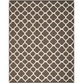 Handwoven Moroccan Dhurrie Brown Wool Area Rug (6' x 9')